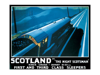 LNER, Scotland by the Night Scotsman, 1932 Giclee Print