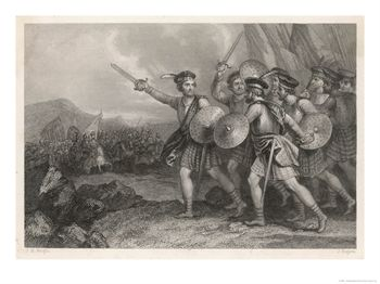 William Wallace Leads the Scots Against the English Giclee Print